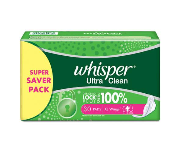 Whisper Sanitary Pads – Ultra Clean XL | Ethnic Prides